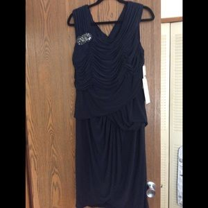 Adrianna Papell Navy Dress  in Size 16 NWT